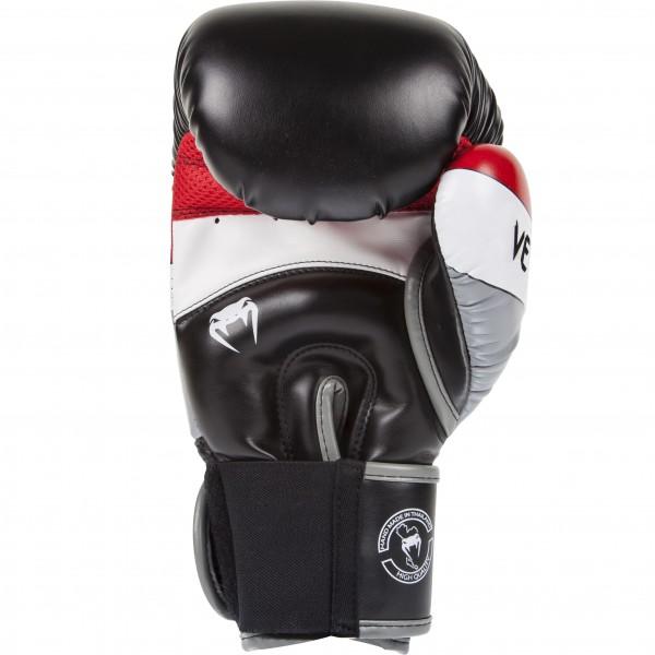 Перчатки боксерские Venum Elite Boxing Gloves - Black/Red/Grey
