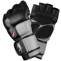 Перчатки ММА Hayabusa Tokushu 4oz MMA Gloves Black/Slate Grey