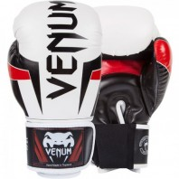 Перчатки боксерские Venum Elite Boxing Gloves - White/Black/Red
