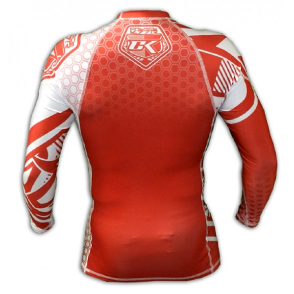 Рашгард Contract Killer Red/White Rashguard L/S