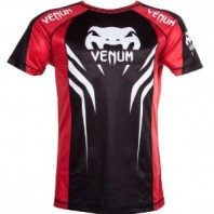 Футболка Venum Electron 2.0 Walkout Dry Fit T-shirt Red/Black