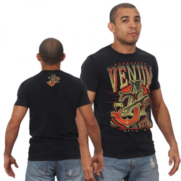 Футболка Venum Jose Aldo Vitoria T-shirt - Black/Orange