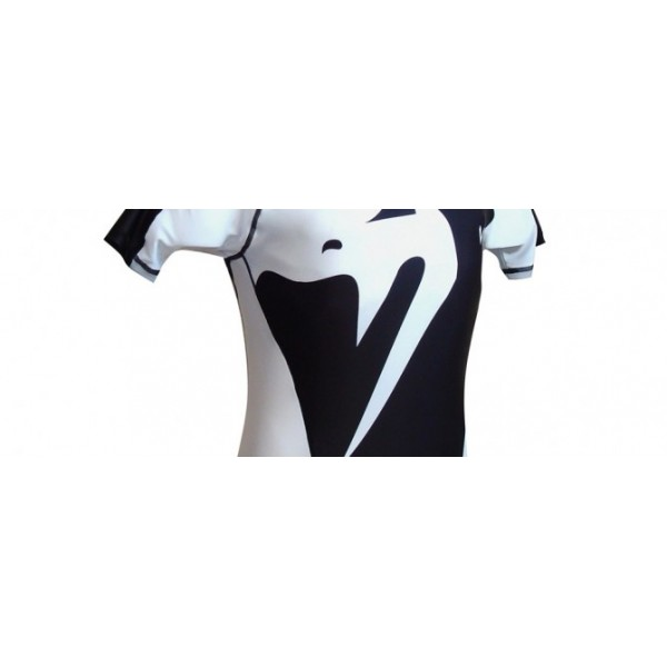 Рашгард Venum Giant Rashguard - Black/Ice - Short Sleeves