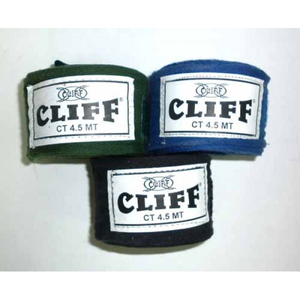 Бинты боксерские Cliff 4,5м Черные