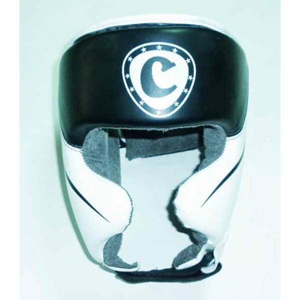 Шлем боксерский закрытый Cliff Бело - Черный