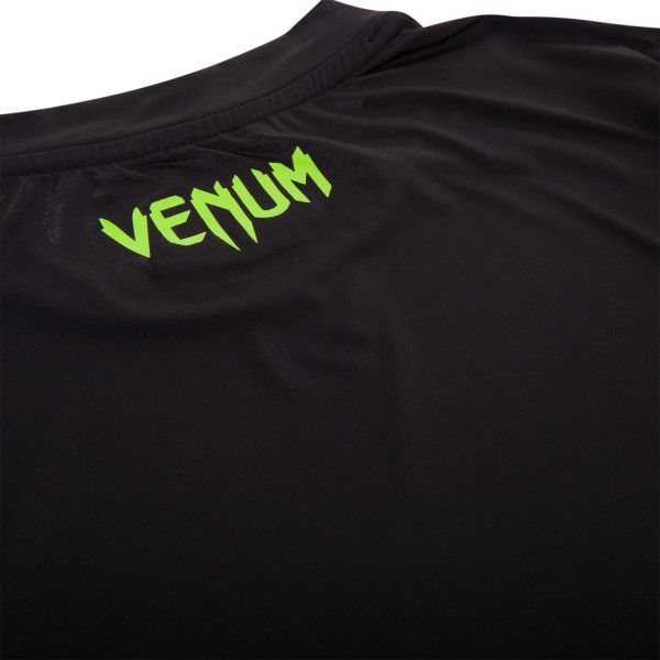 Футболка Venum Contender Dry Tech T-Shirt - Black / Neo Yellow