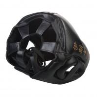 Шлем боксерский Excalibur 721 Black Буйволиная кожа