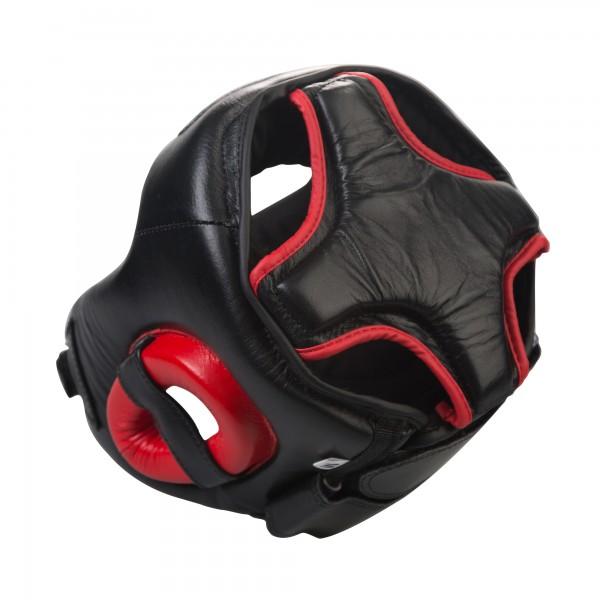 Шлем боксерский Excalibur 719 Буйволиная кожа - Black/Red