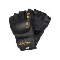Перчатки ММА Excalibur 655 Буйволиная кожа Black