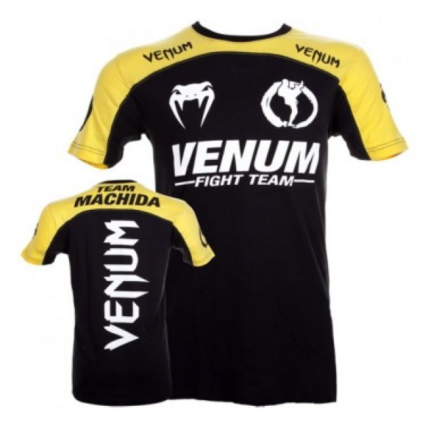 Футболка Venum Machida Team T-shirt Black/Yellow