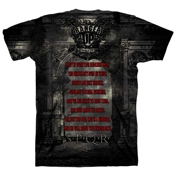 Футболка Ranger Up SPQR Warrior Roman Legion Athletic Fit T-Shirt