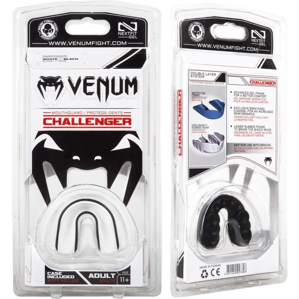 Капа боксерская Venum Challenger Black/Ice