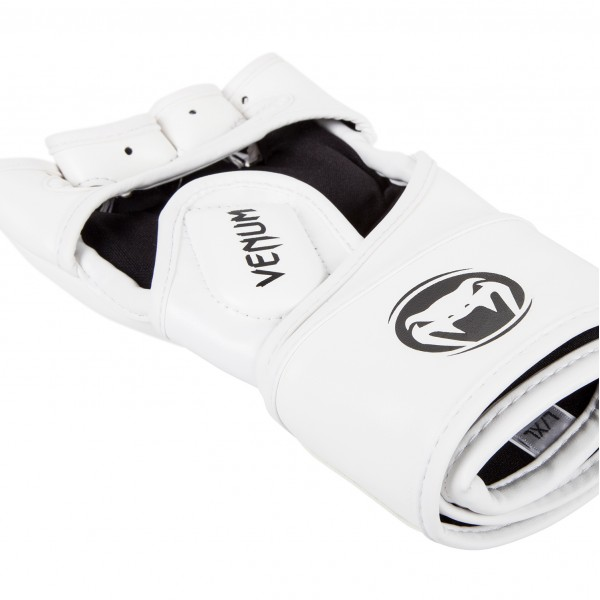Перчатки ММА Venum Impact Gloves - Skintex Leather White