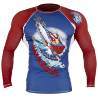 Рашгард Hayabusa Ninja Falcon Blue/Red L/S