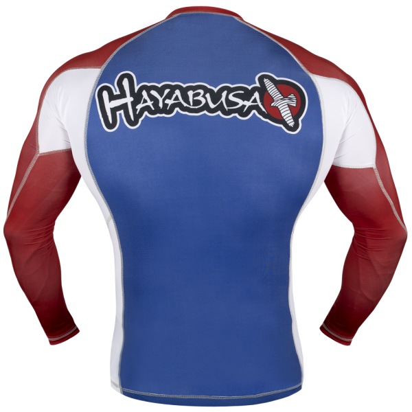 Рашгард Hayabusa Ninja Falcon Rashguard Long Sleeve - Blue / Red