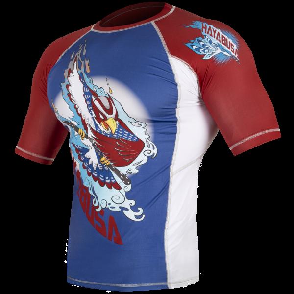 Рашгард Hayabusa Ninja Falcon Rashguard Short Sleeve - Blue / Red