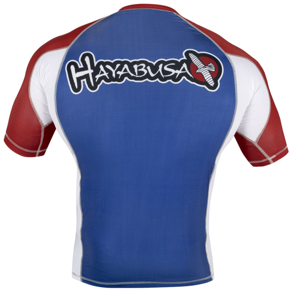 Рашгард Hayabusa Ninja Falcon Rashguard Short Sleeve - Blue / Red