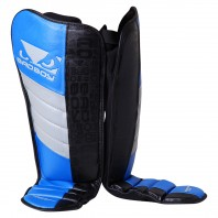 Щитки Bad Boy Legacy MMA Shin Guards - Black/Blue/Grey