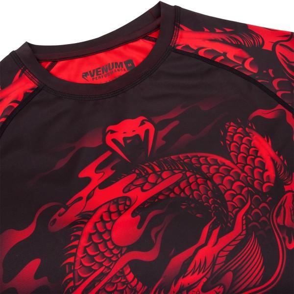 Рашгард Venum Dragon's Flight Black/Red S/S