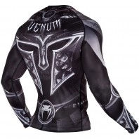 Рашгард Venum Gladiator 3.0 Black/White L/S