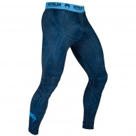 Компрессионные штаны Venum Nightcrawler - Navy Blue