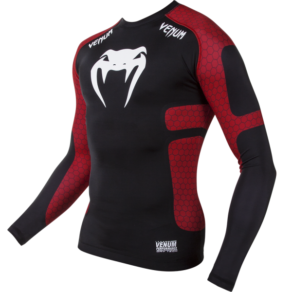 Рашгард Venum Absolute Black/Red L/S