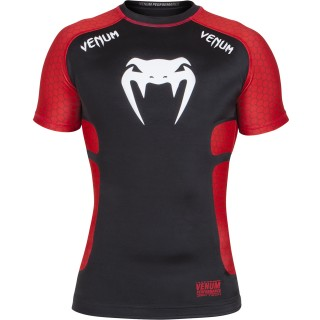 Рашгард Venum Absolute Compression T-Shirt - Black/Red Short Sleeves