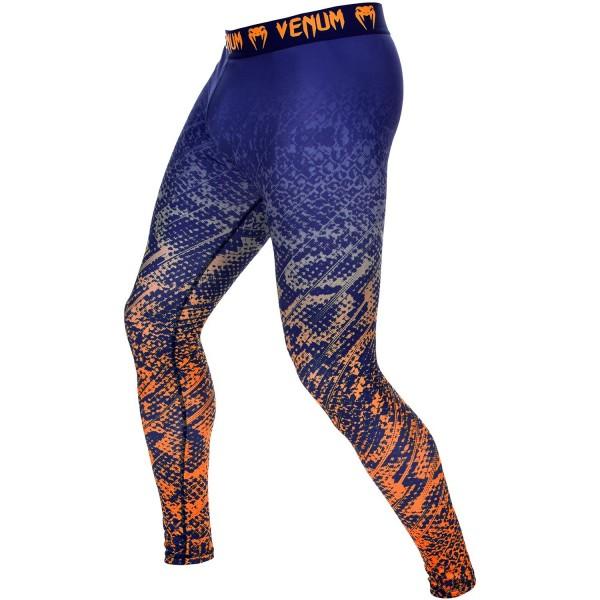 Компрессионные штаны Venum Tropical Blue/Orange