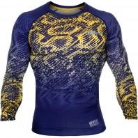 Компрессионная футболка Venum Tropical Blue/Yellow L/S