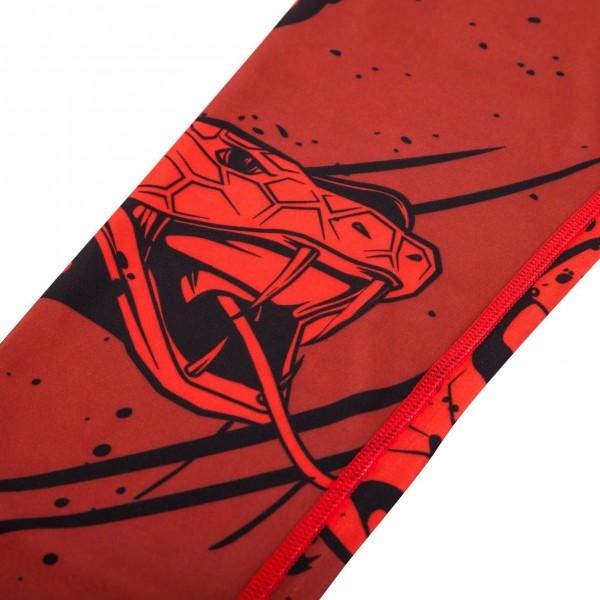 Компрессионные штаны Venum Crimson Viper Spats - Black/Red