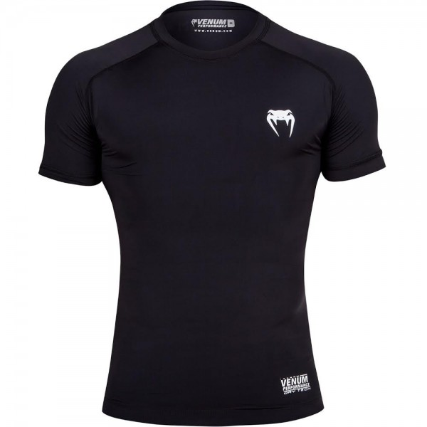 Компрессионная футболка Venum Contender 2.0 Compression T-Shirt - Short Sleeves - Black/Ice