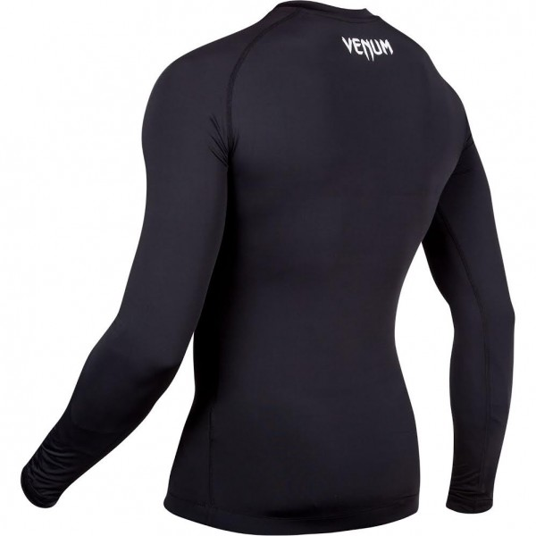 Компрессионная футболка Venum Contender 2.0 Compression T-Shirt - Long Sleeves - Black/Ice