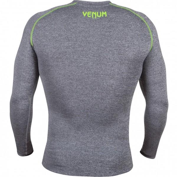 Компрессионная футболка Venum Contender 2.0 Compression T-Shirt - Long Sleeves - Heather Grey