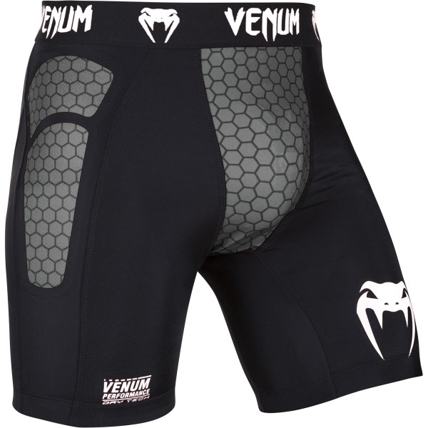 Компрессионные шорты Venum Absolute Compression Shorts - Dark/Grey