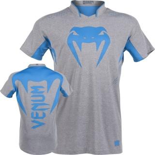Футболка Venum Hurricane X Fit™ T-Shirt - Grey/Neo Blue
