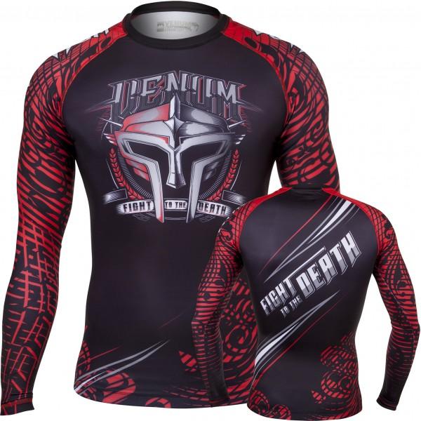 Рашгард Venum Gladiator Rashguard - Black/Red - Long Sleeves