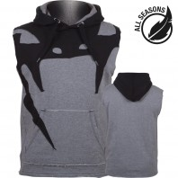 Толстовка без рукавов Venum Attack Sleeveless Hoody - Lite Series - All Seasons Heather Grey