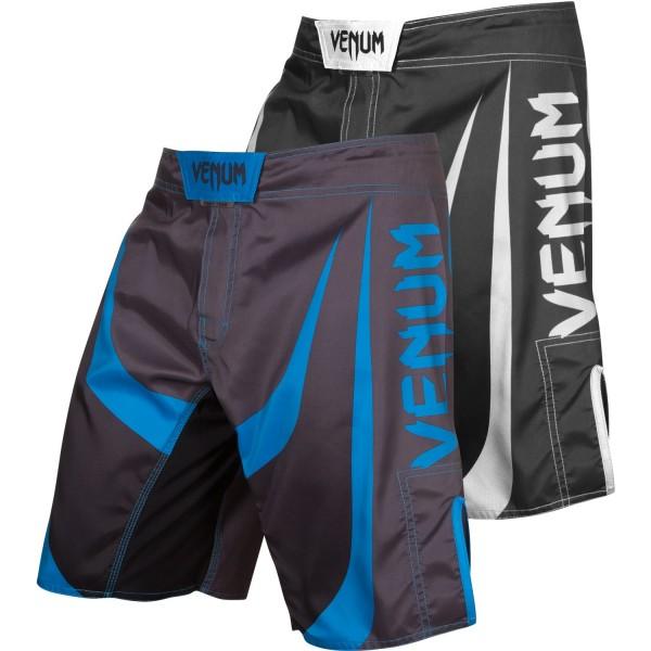 Шорты ММА Venum Predator - Black/Cyan
