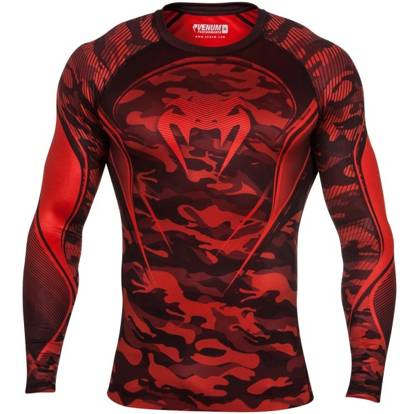 Рашгард Venum Camo Hero - Red L/S