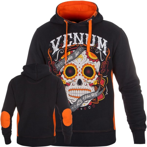 Толстовка Venum Santa Muerte Black/Orange