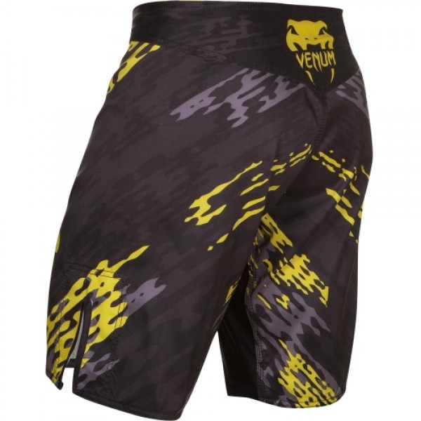 Шорты ММА Venum Neo Camo Fightshorts Black/Grey/Yellow