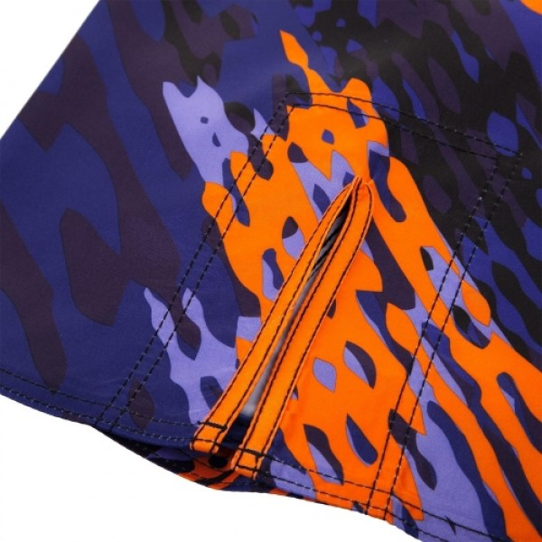 Шорты ММА Venum Neo Camo Fightshorts Blue/Orange/Black
