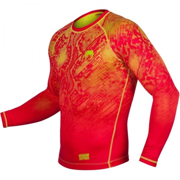 Рашгард Venum Fusion Orange/Yellow L/S