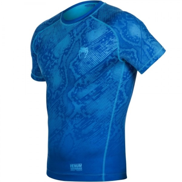 Компрессионная футболка Venum Fusion Compression T-shirt - Blue Short Sleeves
