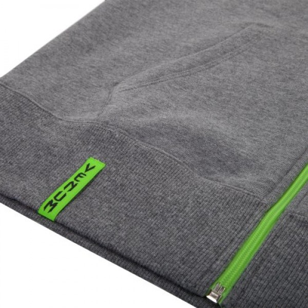 Толстовка Venum Contender Hoody Grey - Neo Yellow Logo