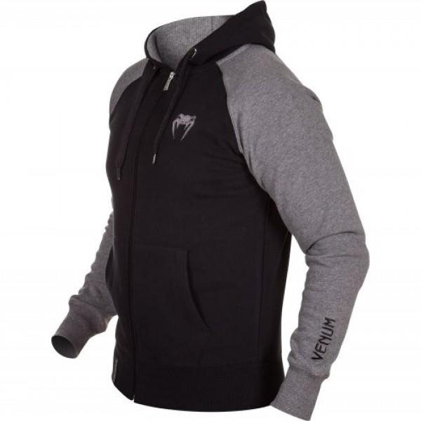Толстовка Venum Contender Hoody Black/Grey - Grey Logo