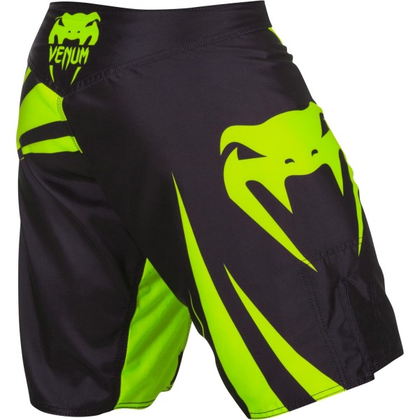Шорты ММА Venum Challenger Fightshorts - Black/Neo Yellow