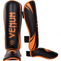 Щитки Venum Challenger Neo Orange/Black