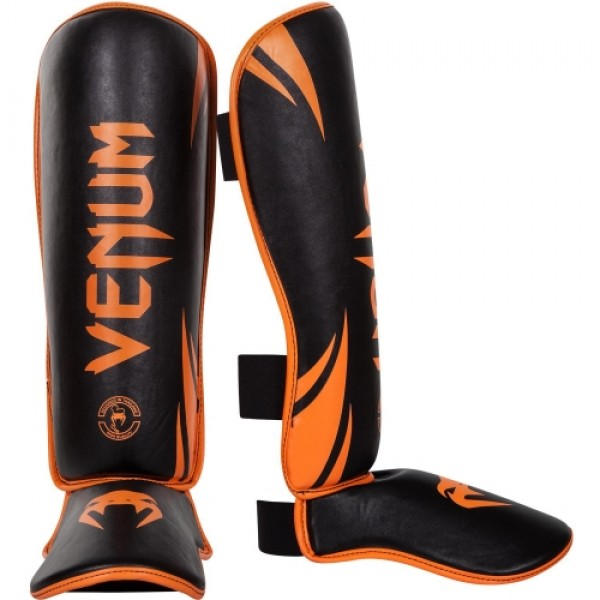 Щитки Venum Challenger - Neo Orange/Black