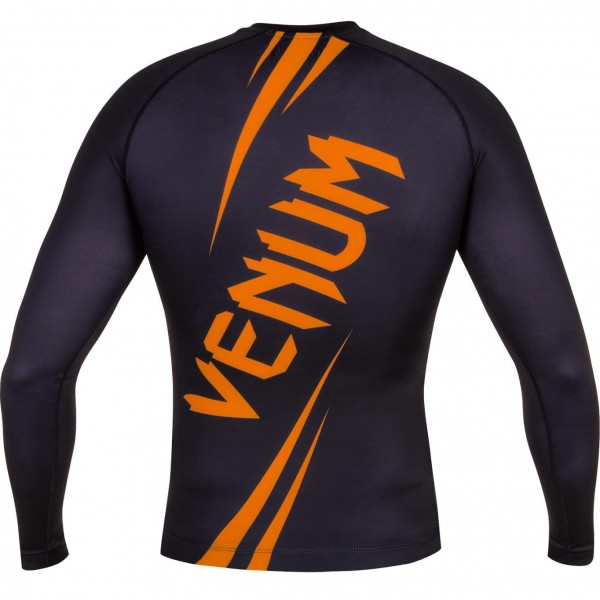 Рашгард Venum Challenger Rashguard - Long Sleeves Black/Neo Orange